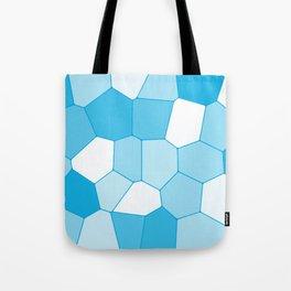 Blue ice tile blocks pattern Tote Bag