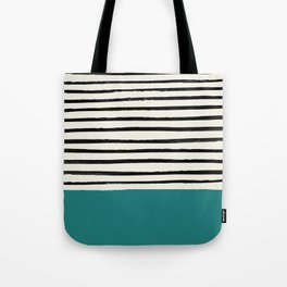 Teal x Stripes Tote Bag