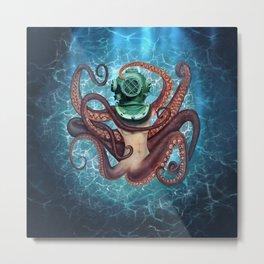 The Diver Metal Print