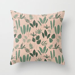 seamless patterns leaves Throw Pillow