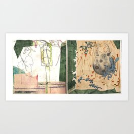 light & lock Art Print