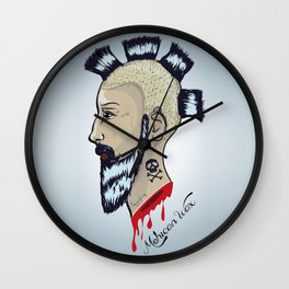 Mohican Wax Wall Clock
