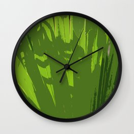 Five Shades  Of Green Wall Clock