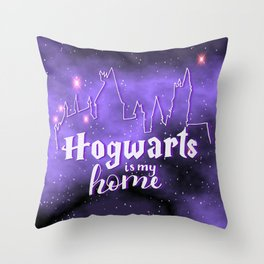 Hogwarts Is My Home Throw Pillow