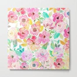 Classy watercolor hand paint floral design Metal Print