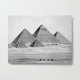 Pyramids of Gizeh Metal Print