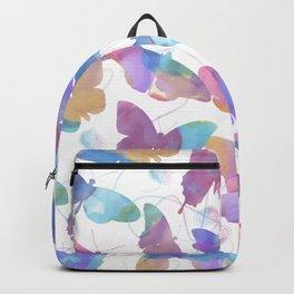 seamless   pattern of watercolor butterflies Backpack