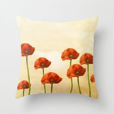 Where the Poppies Bloom Throw Pillow