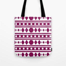 Marsala Tribal Pattern Tote Bag