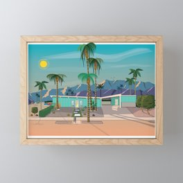 Palm Springs Vacation Home Framed Mini Art Print