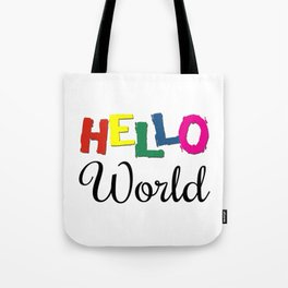 Hello World Tote Bag