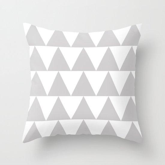 Grey Triangle /// www.pencilmeinstationery.com Throw Pillow