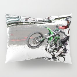 Making a Stand - Freestyle Motocross Rider Pillow Sham