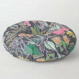 Summer Garden at Midnight Floor Pillow