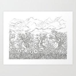 Hidden Things Art Print