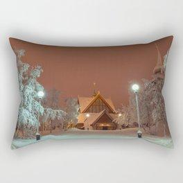 Kiruna Church In the Winter Snow Rectangular Pillow