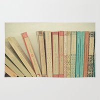 bookworm Area & Throw Rugs featuring Falling by Cassia Beck