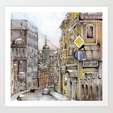 Winter in Moscow Art Print