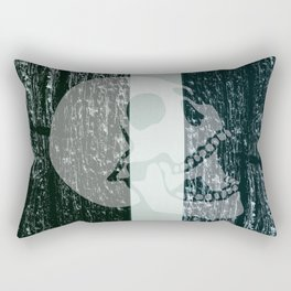 burning skull Rectangular Pillow