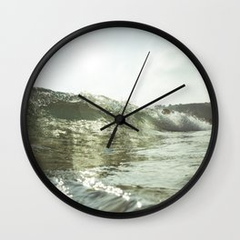 Rolling Wave Porthcurno, Cornwall Wall Clock