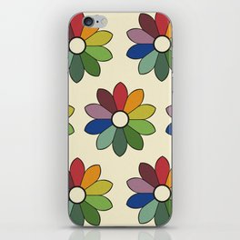Flower pattern based on James Ward's Chromatic Circle iPhone Skin