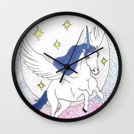 Unicorn in space Wall Clock