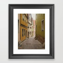 Italian Alley - Bright Colors Framed Art Print