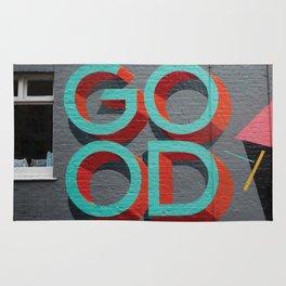 Good typography on a wall Rug