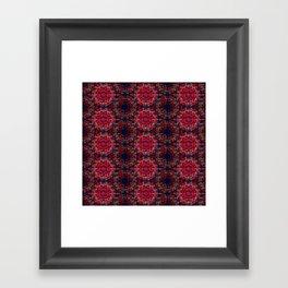 Midnight Scarlet Framed Art Print