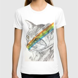Cat's eye rainbow T-shirt
