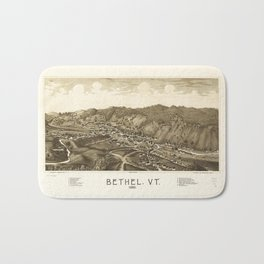 Aerial View of Bethel, Vermont (1886) Bath Mat