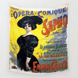 Vintage poster - Sapho Wall Tapestry