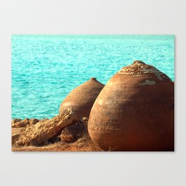 sea shore. Cyprus Canvas Print