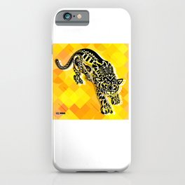 jaguars in gold ecopop iPhone Case