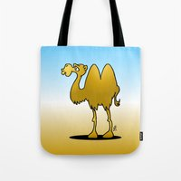 camel Tote Bags featuring Camel by Cardvibes.com - Tekenaartje.nl