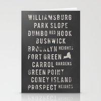 brooklyn Stationery Cards featuring Brooklyn by Juan Perez
