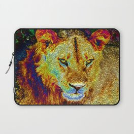 Glossy Lion Laptop Sleeve