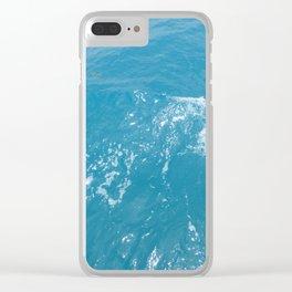 Calm Ocean Waves Clear iPhone Case
