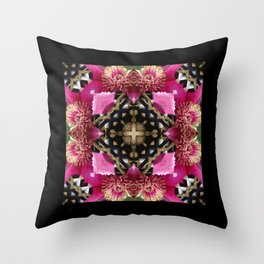 Flower kaleidoscope Throw Pillow