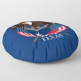 Texas flag and eagle crest - original design by BruceStanfieldArtist Floor Pillow