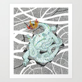 Zmiy (Three-Headed Dragon) Art Print