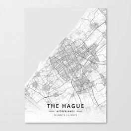 The Hague, Netherlands - Light Map Canvas Print