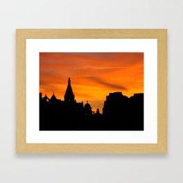 London Sunset in sillouette bywhacky Framed Art Print