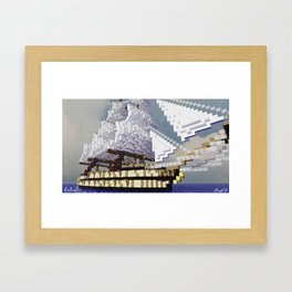 Minecraft - Operation Infinite Ocean - Sailing Ship Framed Art Print
