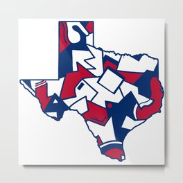 Lone Star State Love Metal Print