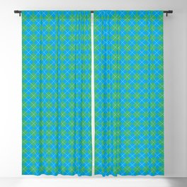 Argyle Pattern | Scottish Patterns | Blue and Green | Blackout Curtain