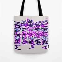 letters Tote Bags featuring letters by Artemio Studio