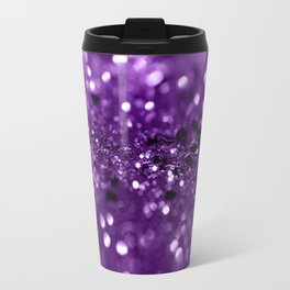 Purple Lady Glitter #1 #shiny #decor #art #society6 Travel Mug