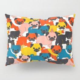 COLORED PUGS PATTERN no2 Pillow Sham