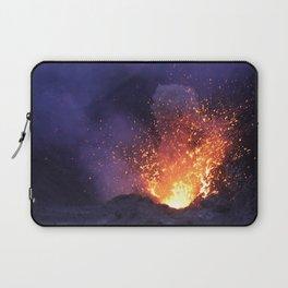 Lava explosion at Mount Yasur Vanuatu at dusk Laptop Sleeve